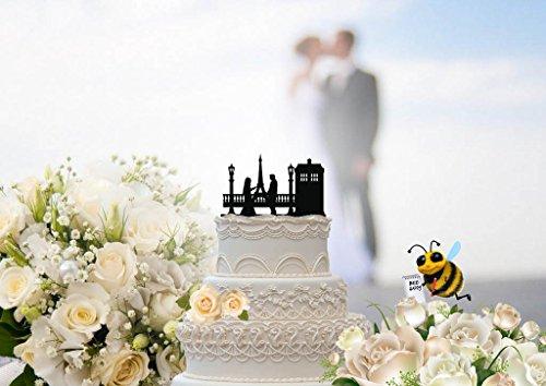 Doctor Who Inspired Tardis is Paris Wedding Cake Topper