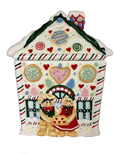 Reatired Gingerbread Canister in Shape of a House By Blitzen Company Gingerbreads