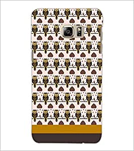 PrintDhaba Owl pattern D-1838 Back Case Cover for SAMSUNG GALAXY NOTE 5 EDGE (Multi-Coloured)