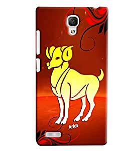 Clarks Sunsign Aries Hard Plastic Printed Back Cover/Case For Xiaomi Redmi Note Prime