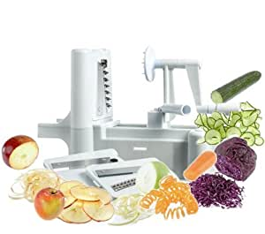 Abco Tech New and Essential Tri-Blade Spiral Vegetable Slicer