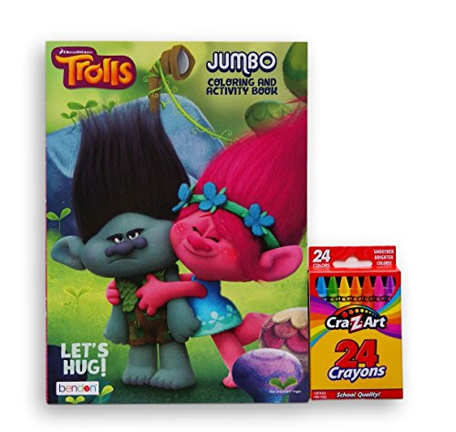 Dreamworks Trolls ''Let's Hug'' Jumbo Coloring and Activity Book with Cra-Z-Art Crayons (Recipes Cra compare prices)