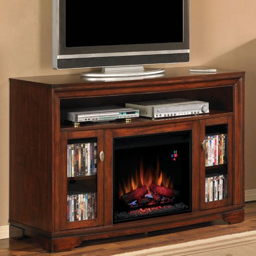 Classicflame Palisades Electric Fireplace Media Cabinet In Empire Cherry - 23Mm070-C244