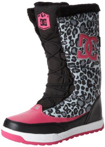 Dc Allie Rain Boot (Little Kid/Big Kid),Black/Crazy Pink,12 M Us Little Kid