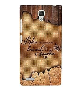 Bless Love Laughter 3D Hard Polycarbonate Designer Back Case Cover for Xiaomi Redmi Note Prime :: Xiaomi Redmi Note 4G Prime