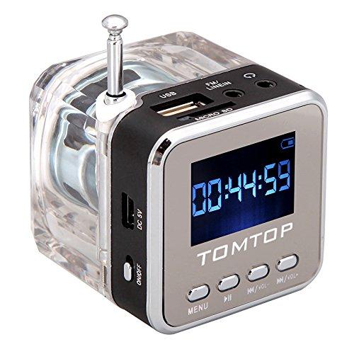 Andoer-Mini-Digital-tragbare-Lautsprecher-Musik-MP3-4-Player-Micro-SD-TF-USB-Disk-FM-Radio-mit-Teleskopantenne-und-Kopfhrerausgang-Funktionen-Schwarz