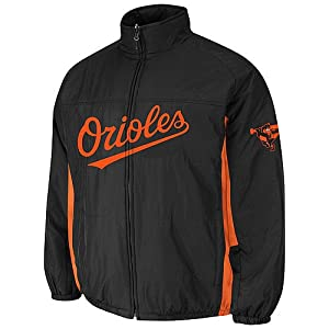 Baltimore Orioles Black Authentic Double Climate On-Field Jacket by Majestic by Majestic