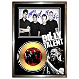 BILLY TALENT - SIGNED FRAMED GOLD VINYL RECORD CD & PHOTO DISPLAY - 1 2 3 dead silence