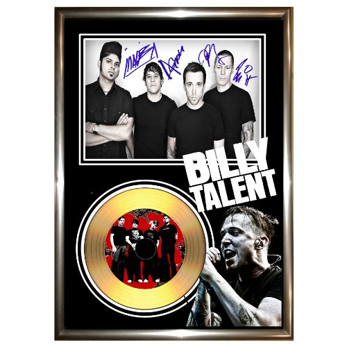 SIGNED FRAMED TALENT-BILLY oro VINYL RECORD & PHOTO DISPLAY per CD, 1, 2, 3, dead silence