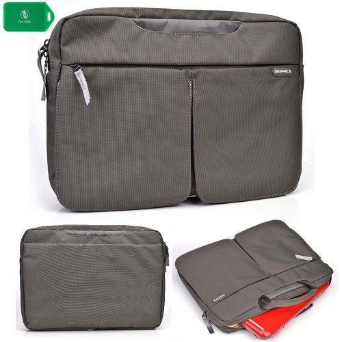 NYLON LAPTOP BAG WITH CARRYING HANDLES Hand-out SHOULDER STRAP INCLUDED in grey FOR Dell Latitude E6220