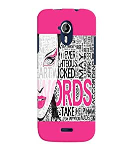 Fuson Fashion Girl Back Case Cover for MICROMAX A117 CANVAS MAGNUS - D4066