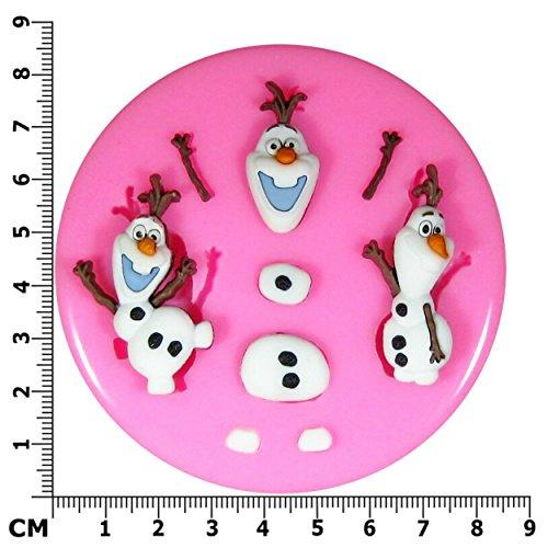 Fairie Blessings Moule en silicone pour réalisation de décoration de gâteaux/cupcakes en pâte à sucre motif Olaf de La Reine des neiges