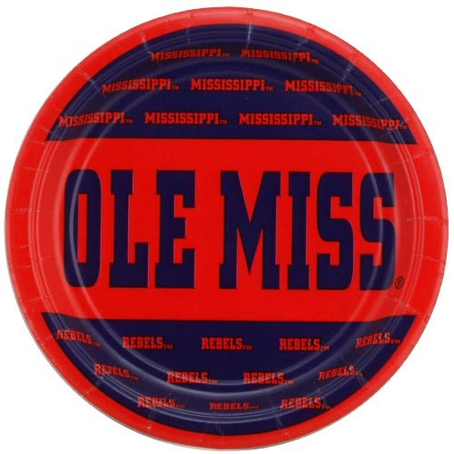 NCAA Mississippi Rebels 8-Pack Small Paper Dessert Plates - 1