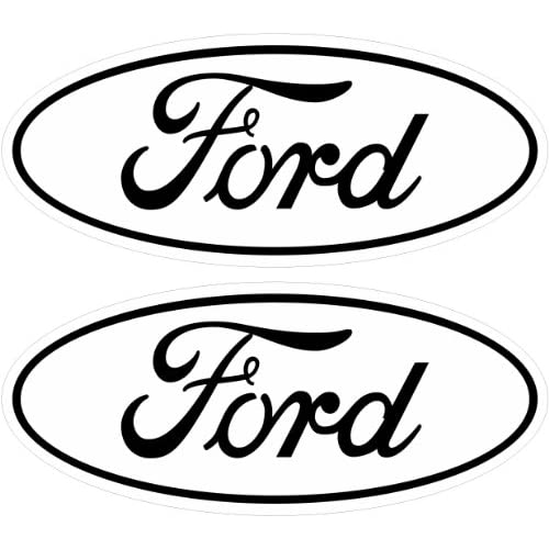 White 05-11 Ford Decal Emblem F250 F350 F150 Ranger Excursion 4x4 Sd
