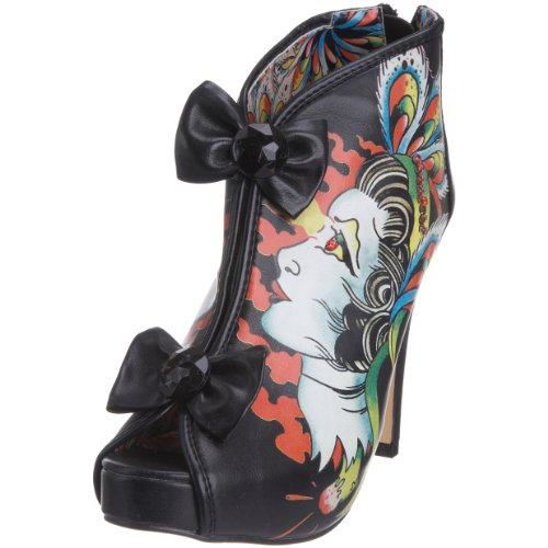 Iron Fist Women's Thelma Bootie Heel Black IFL0291 8 UK