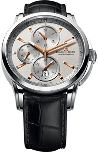 maurice-lacroix-mens-pt6188-ss001-131-pontos-stainless-steel-automatic-watch-with-black-leather-band