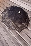 Renaissance Lace Parasol - Sun Umbrella (Black)