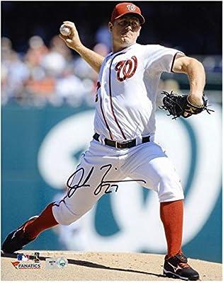 "Jordan Zimmermann Washington Nationals Autographed 8"" x 10"" Pitch Photograph - Fanatics Authentic Certified"