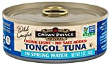 Chunk Light Tongol Tuna has become the industry standard in almost all health food stores. Because the quality standards are so high for this product, many consumers have made the switch from the chunk light Skipjack product found in regular grocery stores, and recognize that the name Tongol denotes an overall higher quality and better taste. Crown Prince Natural Tongol Tuna is available with or without added salt and is dolphin safe. Try Tongol Tuna in pita pockets with lettuce, tomato and onion; a great way to get the family to try a protein rich food!