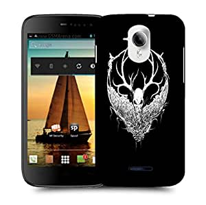 Snoogg White Fury Face Designer Protective Back Case Cover For MICROMAX A117