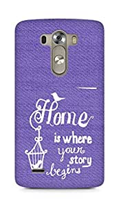 AMEZ home is where your story begins Back Cover For LG G3