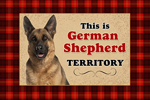 Novelty Dog Territory Mat, 18 by 27-Inch, German Shepherd