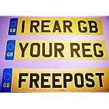 Rear Standard GB Euro Number Plate 100% MOT Compliant - Car / Van