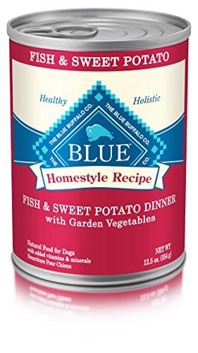 Blue Buffalo BLUE Homestyle Recipe Fish & Sweet Potato Dinner 12.5 oz (Pack of 12) (Fish Potato compare prices)