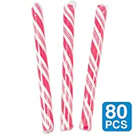 Strawberry Hot Pink 5″ Candy Sticks (1-Pack of 80)