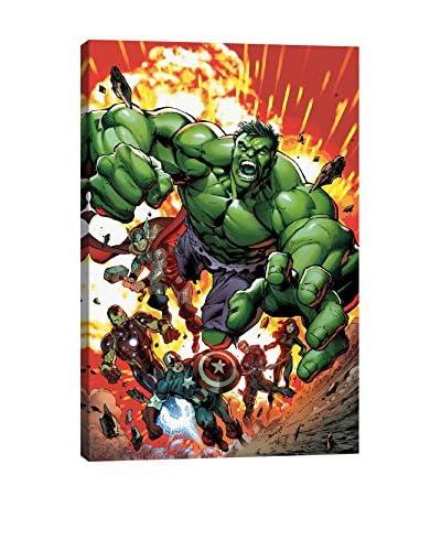 Marvel Comics Gallery  Black Widow, Captain America, Hawkeye, Hulk, Iron Man And Thor Canvas Print