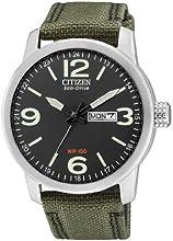 Comprar Citizen BM8470-11EE - Reloj analógico de cuarzo para hombre, correa de nailon color verde