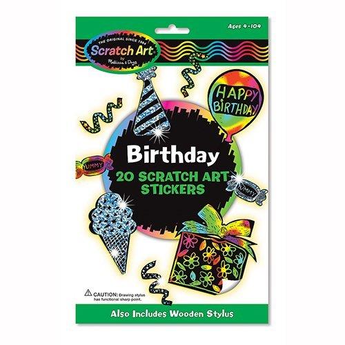Birthday: Scratch Art Stickers Pack - 1