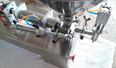 Gowe® Liquid or Paste Filling Machine, Pneumatic, Semi Filler, Single Head with Cylinder, Piston 10-300ml