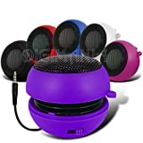 Purple 3.5mm Mini Portable Speaker Bass Travel Round Twist Out Booster Super Sound Pocket Size Capsule For Amazon Kindle Fire HDX 7