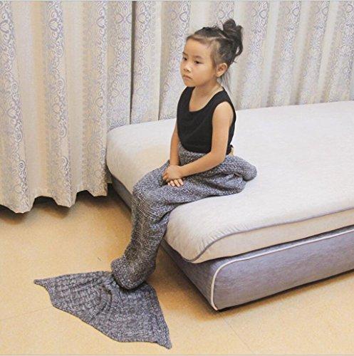 WEISHENMEN Mermaid Coperta ragazze maglia s dei bambini 'Coperta creativa del sofà della coperta Dimensioni: 150cm * 70cm BULAIDANZI
