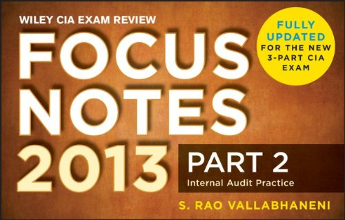Wiley CIA Exam Review Focus Notes: Internal Audit Practice: 2