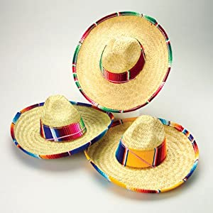 Amazon.com: US Toy Child's Mexican Sombrero Costume: Toys & Games