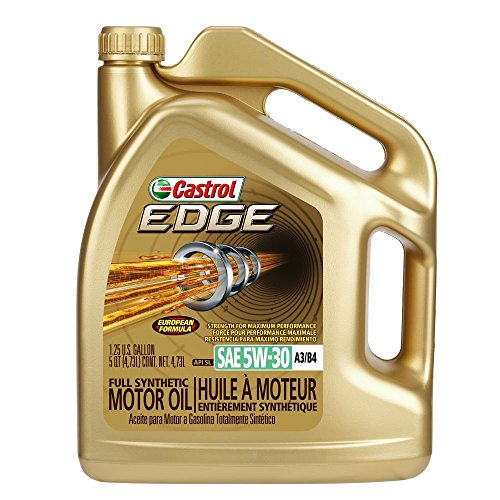 Castrol 03037 EDGE Gold 5W-30 Synthetic Motor Oil, 5 quart (API SL, ACEA A3/B4, BMW LL-01, MB-Approval 229.5, VW 502 00, VW 505 00) (Castrol Synthetic Engine Oil compare prices)