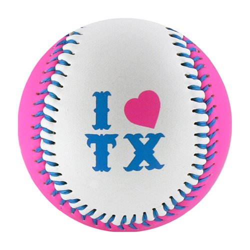 Texas Pink, White & True T-Ball (Rubber Core)