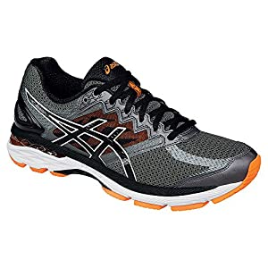 ASICS Men's GT 2000 4 Running Shoe, Carbon/Black/Hot Orange, 10.5 M US