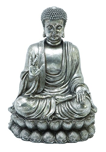 75542 Polystone Buddha 16 Inches Wide front-1066007