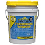 Kem-Tek 107 3-Inch Chlorinating Tablets for Pool and Spa, 35-Pound