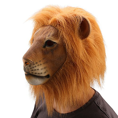 Ylovetoys Lion Latex Animal Mask Halloween Party Costume Decorations (Lion Head Costume compare prices)