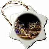 3dRose orn_95169_1 Washington, Leavenworth, Christmas Holiday Lights-US48 BJA0279-Jaynes Gallery-Snowflake Ornament, Porcelain, 3-Inch