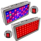 Ultimate LED Grow Light - Nova N300s Dual Spectrum VEG and BLOOM Control Switch - Full Spectrum 300w LED Grow Lamp - Best 12 Band For Indoor Plant Garden - 5 Year Warranty