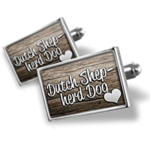 Cufflinks Dutch Shepherd Dog, Dog Breed Netherlands - Neonblond