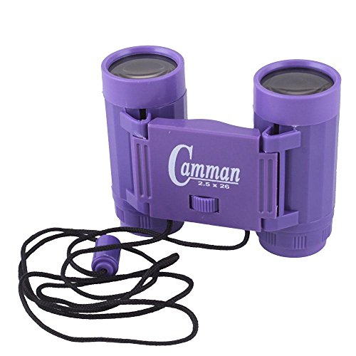 2.5 X 26 Binoculars Mini Children Telescopes Portable Toy Purple