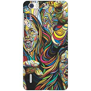 Via flowers Abstract Matte Finish Phone Cover For Huawei Honor 6