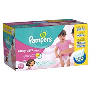 Pampers Easy Ups Girls Size 2T-3T, 200 Count