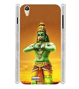 Anjaneya Hanuman Chalisa Soft Silicon Rubberized Back Case Cover for Xolo A1010